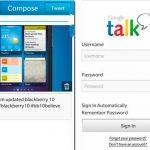 Twitter y Google Talk para BlackBerry 10 aparecen imágenes