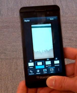 Video BlackBerry 10 interfaz cámara con BlackBerry Z10