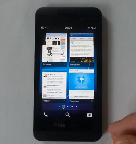 BlackBerry Z10 en Video hands-on  Widgets