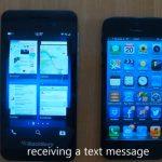 Video comparación del BlackBerry Z10 con el iPhone 5