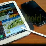 El Galaxy Note 8.0 y su S-Pen comparado con el Galaxy Note II en foto