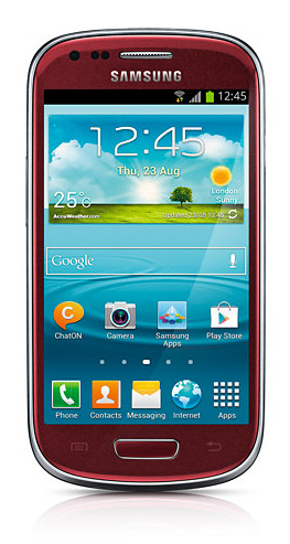 El Galaxy S III Mini color Rojo