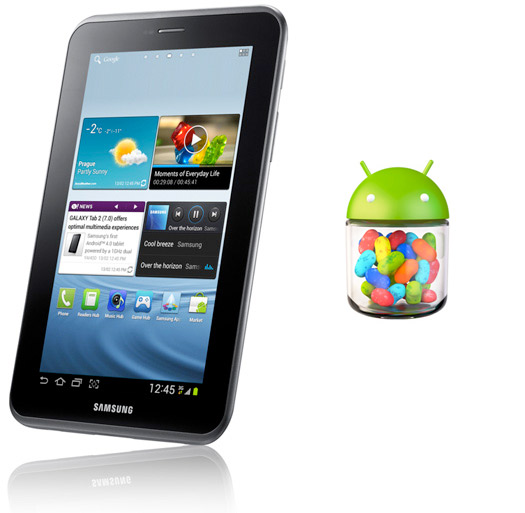 Samsung Galaxy Tab 2 7.0 internacional comienza a recibir Android 4.1 Jelly Bean