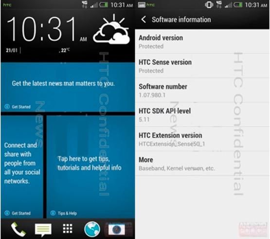 HTC M7 HTC Sense 5.0 Android