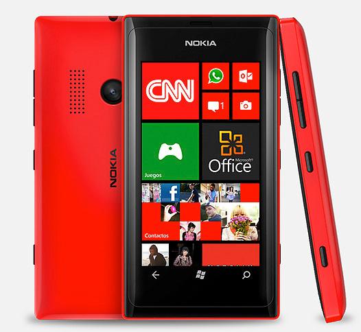 Nokia 505 Telcel México con Windows Phone 7.8Nokia 505 con Windows Phone 7.8