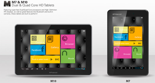 Polaroid tablets M10 y M7 con Jelly Bean