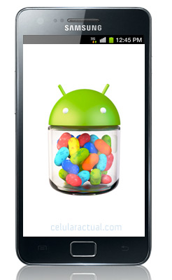 Samsung Galaxy S II con  Android Jelly Bean 4.1