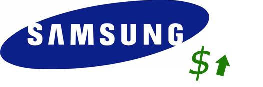Samsung logo ventas arriba