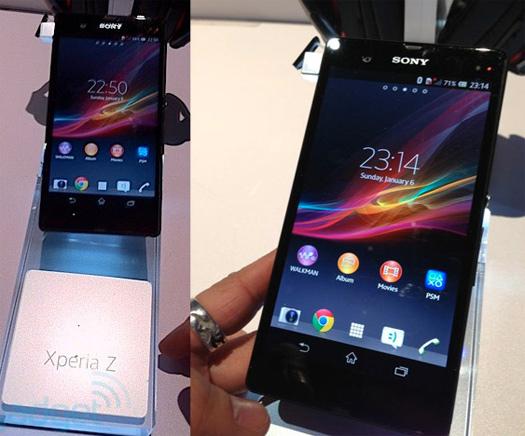 Sony Xperia Z se deja ver en vivo previo a su lanzamiento