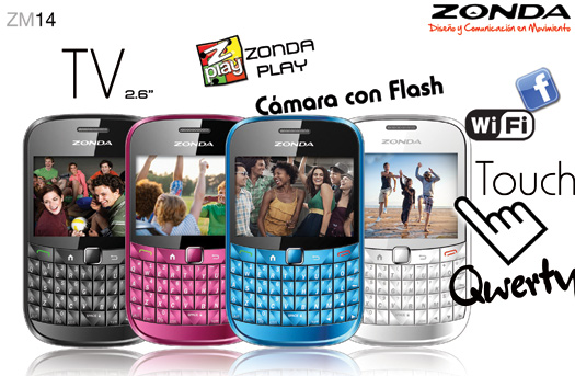 El Zonda ZM14 con TV, Qwerty y Touch ya en México