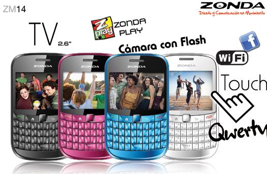 Zonda ZM14 ya en México QWERTY y Touch con WiFi