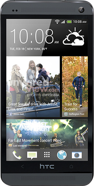 HTC One en color negro oficial de prensa