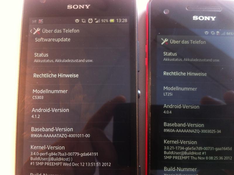 El Sony Xperia SP y Xperia V