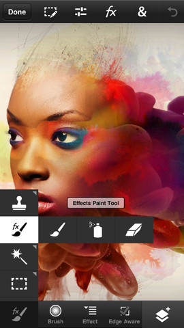 Adobe Photoshop Touch for phone para iPhone pantalla