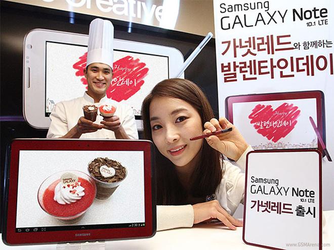 Samsung Galaxy Note 10.1 LTE en color Rojo Garnet Red
