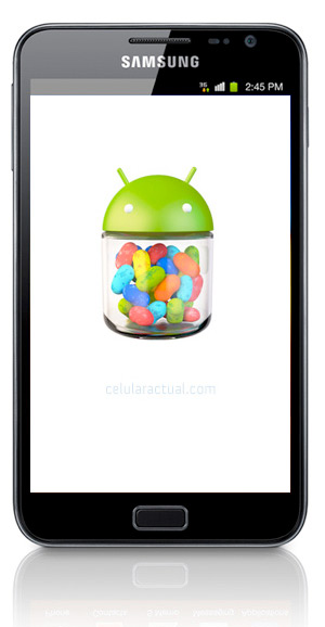 Samsung Galaxy Note N7000 con Android 4.1.2 Jelly Bean