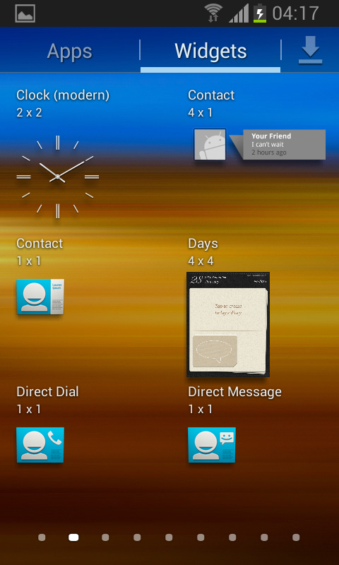 Samsung Galaxy S II captura con Android 4.1 Jelly Bean