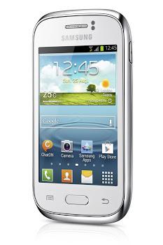 Samsung Galaxy Young pantalla de lado
