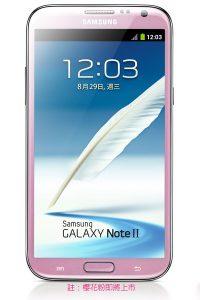 Samsung Galaxy Note II en color rosa es anunciado