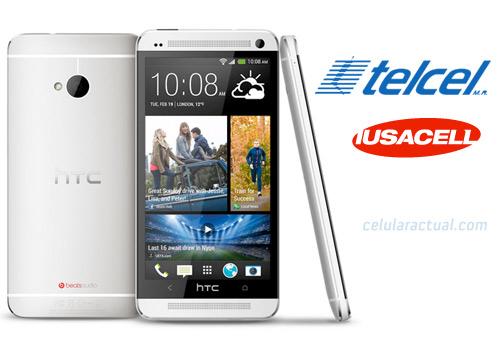 El HTC One en México con Telcel y Iusacell logos