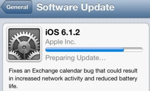 Apple envía actualización iOS 6.1.2 arregla el problema de batería