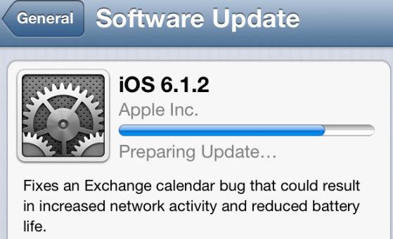 Apple actualización iOS 6.1.2