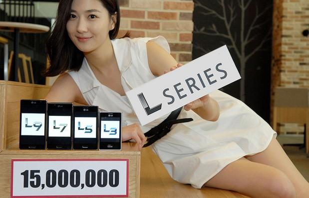 LG Optimus L Series vende 15 millones de unidades, modelo muestra el anuncio
