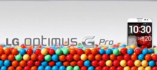 LG Optimus G Pro con pantalla de 5.5 Full HD 1080p