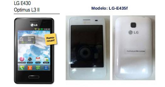 LG Optimus L3 II E430 y E435F