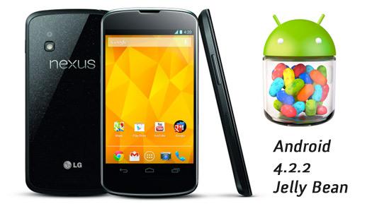 LG Nexus 4 con Android 4.2.2 Jelly Bean