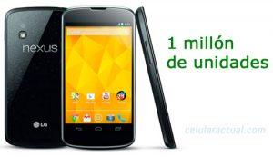 Un millon de Nexus 4 vendidos por Google y LG