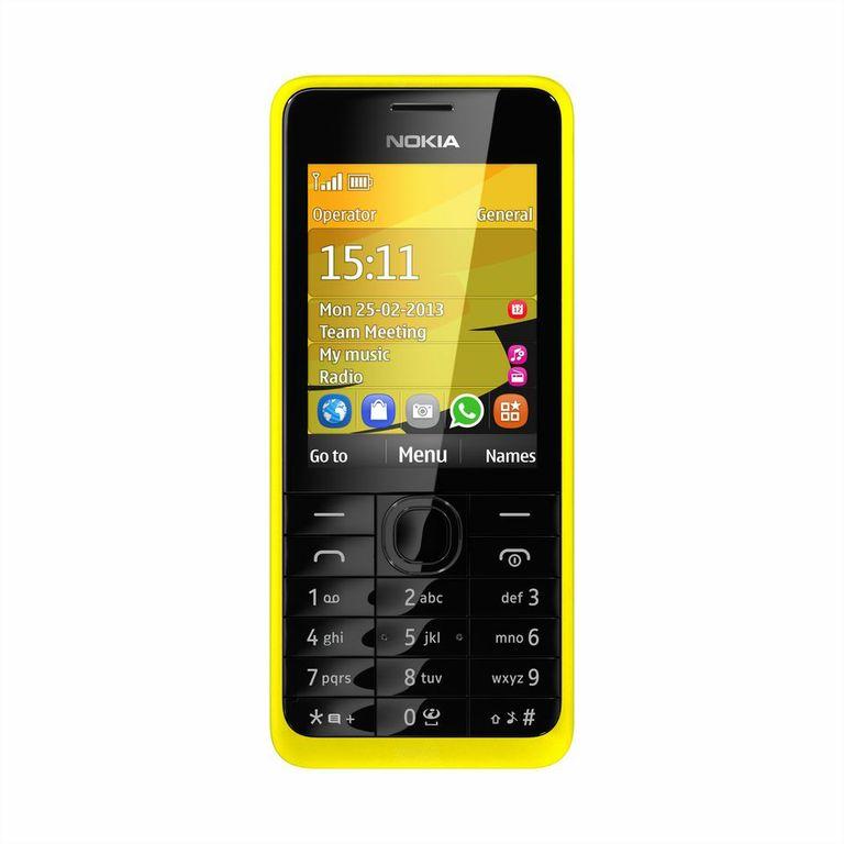 Nokia 301un básico inteligente color amarillo