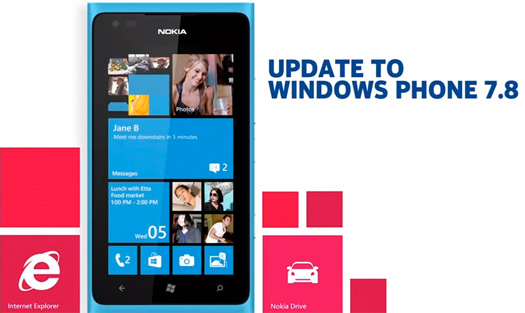 Nokia actualización a Windows Phone 7.8