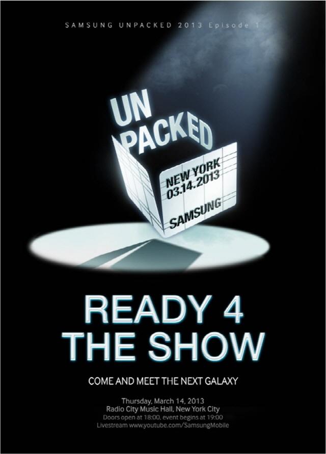 Samsung Unpacked Event 2013 14 de marzo Galaxy S  IV