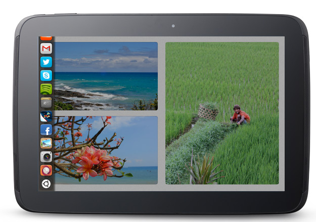 Ubuntu para tablets oficial, barra favoritos