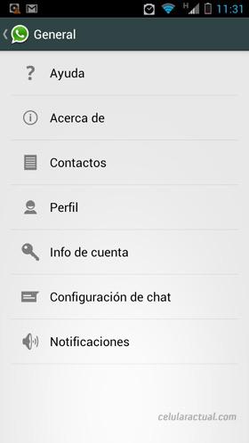 WhatsApp para Android con rediseño Holo UI guidelines