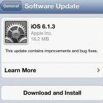 Apple lanza actualización iOS 6.1.3 corrige error de seguridad