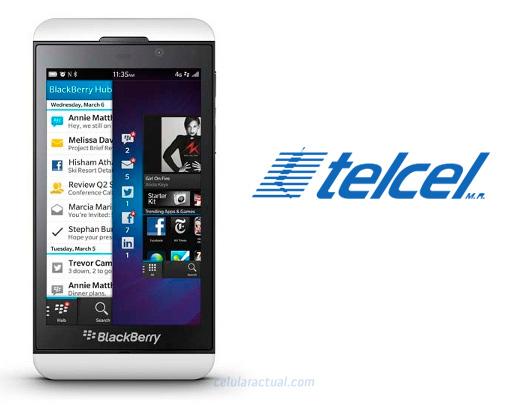BlackBerry Z10 en México con Telcel registro