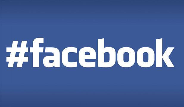 Facebook con hashtag #