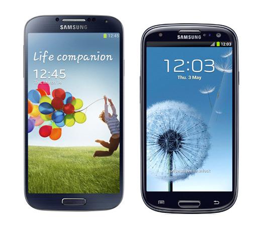 Samsung Galaxy S 4 con el S III
