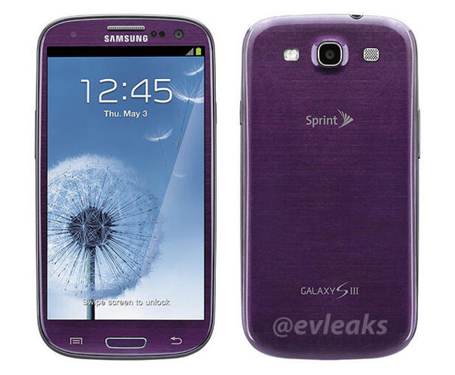 Galaxy S III en color Morado Purple