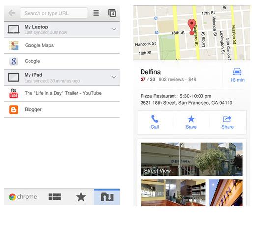Google Maps, Chrome updates iOS