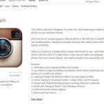 Instagram llegará a Windows Phone en Mayo imagen se filtra