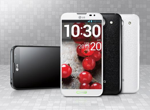 LG Optimus G Pro color blanco y negro