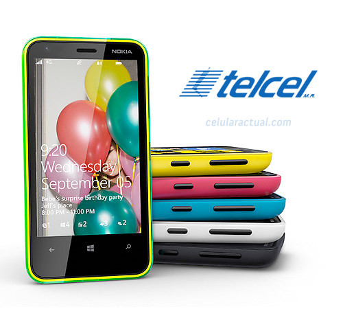 Nokia Lumia 620 en México con Telcel