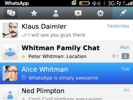 WhatsApp para BlackBerry 10 y Z10
