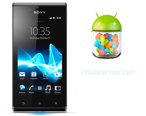 Sony  Xperia J recibe Android Jelly Bean 4.1.2