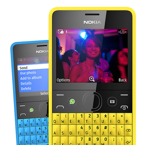 Nokia Asha 210 con Qwerty y tecla WhatsApp colores
