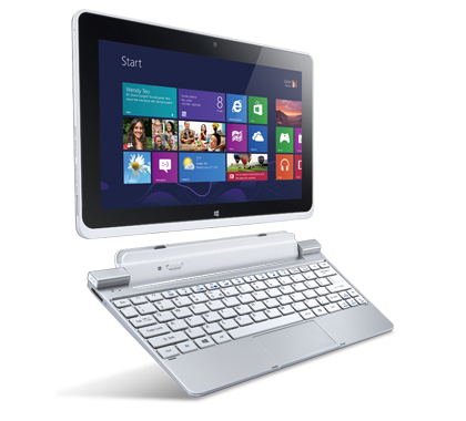 Acer Iconia W510 tablet con Widows 8 en México con teclado dock