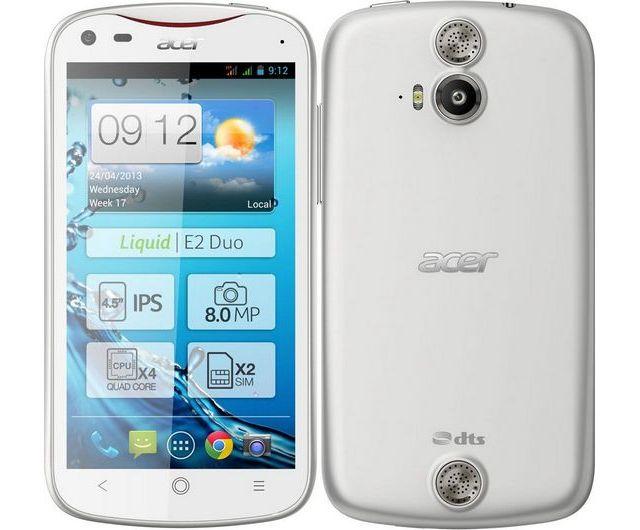 Acer Liquid E2 Android Jelly Bean dual-SIM